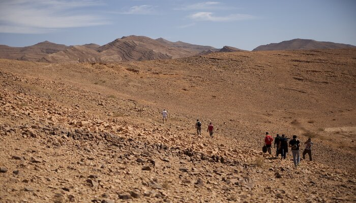 The Marocopedia team filming near Tata in Southern Morocco. Photo credit: Marocopedia.
