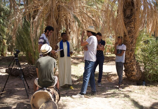 The Marocopedia team often decided what to film once out in the field talking to locals. Photo credit: Marocopedia.