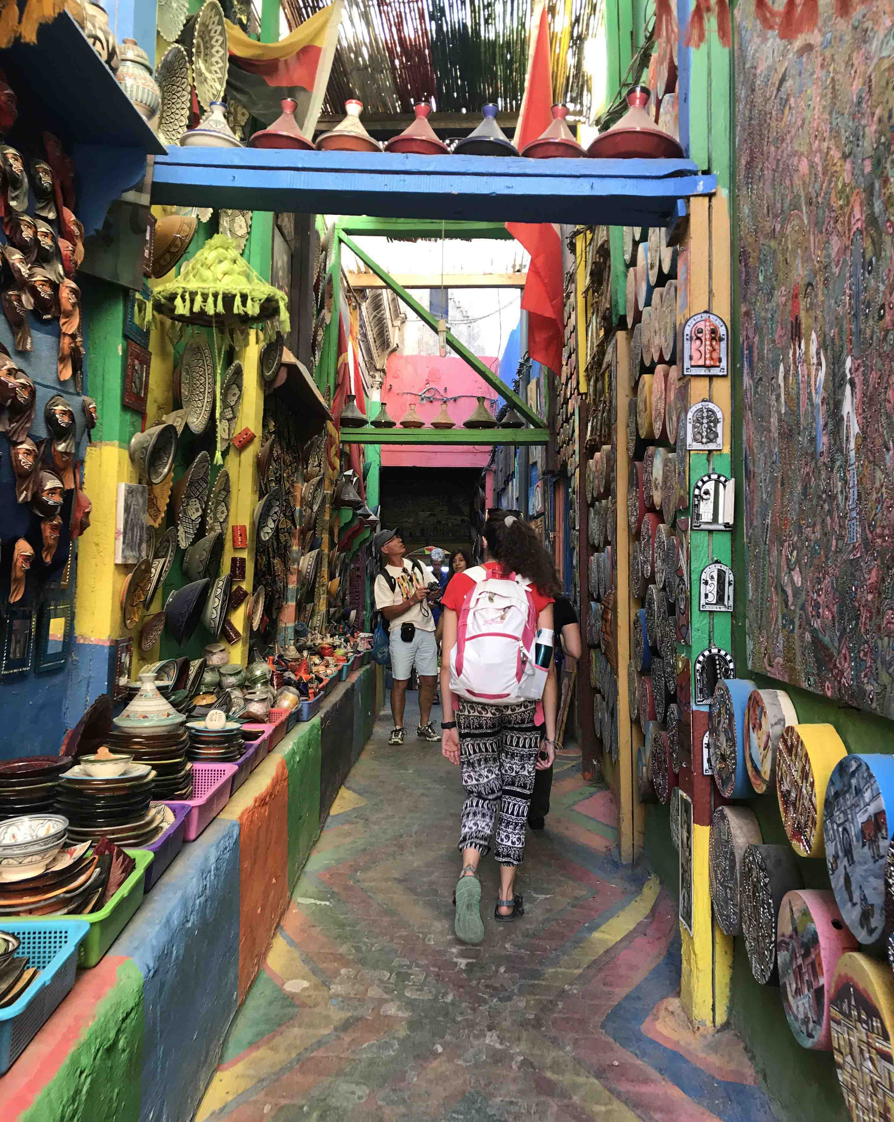 A colorful sidestreet we wandered down while finding our way out of the medina Saturday afternoon.
