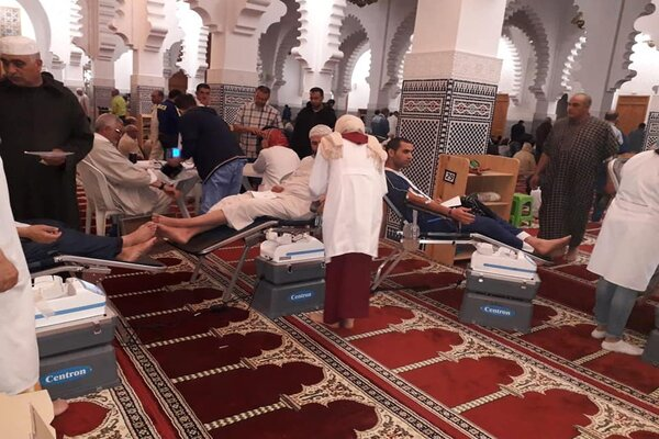 The national-scale Ramadan blood collection program, developed by the Moroccan National Blood Transfusion and Hematology Center (CNTSH), is a world first and its success is inspiring other countries to set up similar initiatives. Photo credit: CNTSH