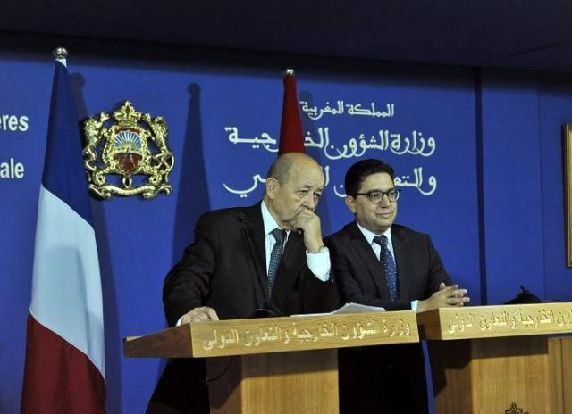 Nasser Bourita and Jean-Yves Le Drian met in Rabat in 2017 (pictured).