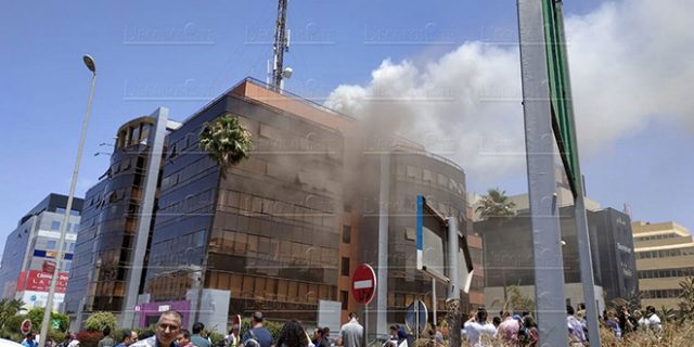 Fire Department Intervenes to Stop a Fire at Inwi Head Office in Casablanca