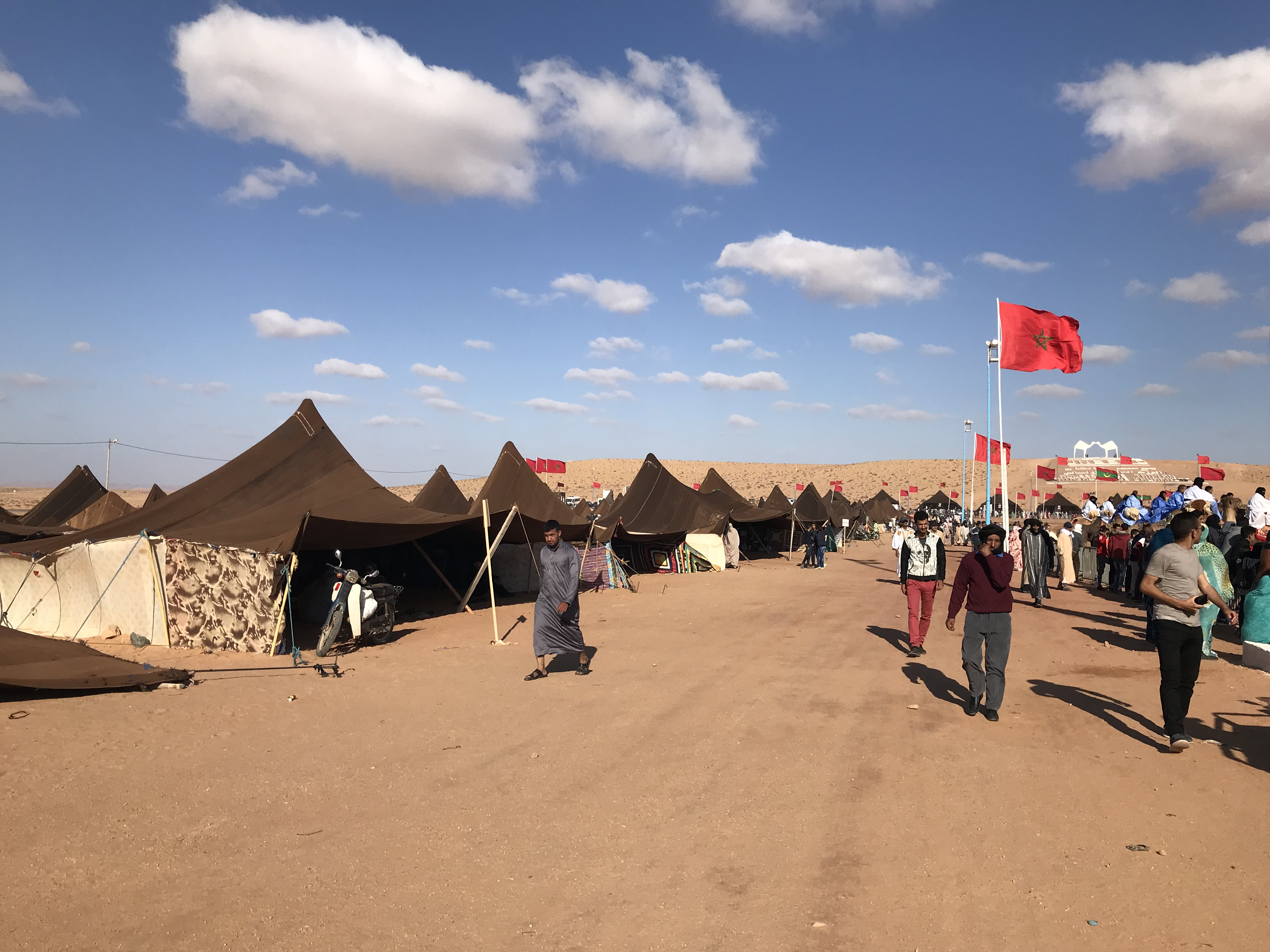Nomad tents at the Tan Tan Moussem