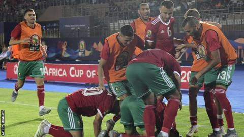 Impressive Amrabat Leads Morocco to CAN 2019 knockout Stage