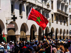Moroccan Activists Rally in Solidarity with Palestine