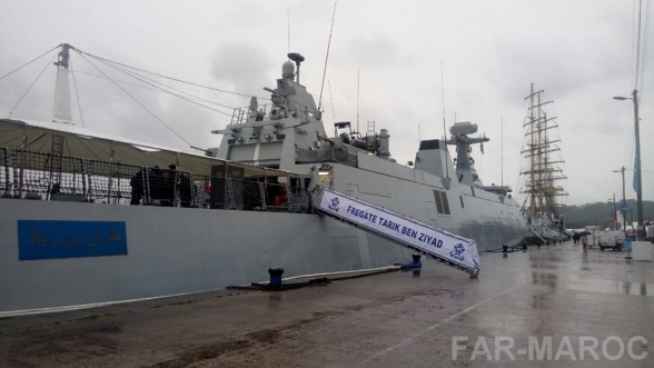 The Moroccan Royal Navy Boat in Rouen, France Draws Visitors