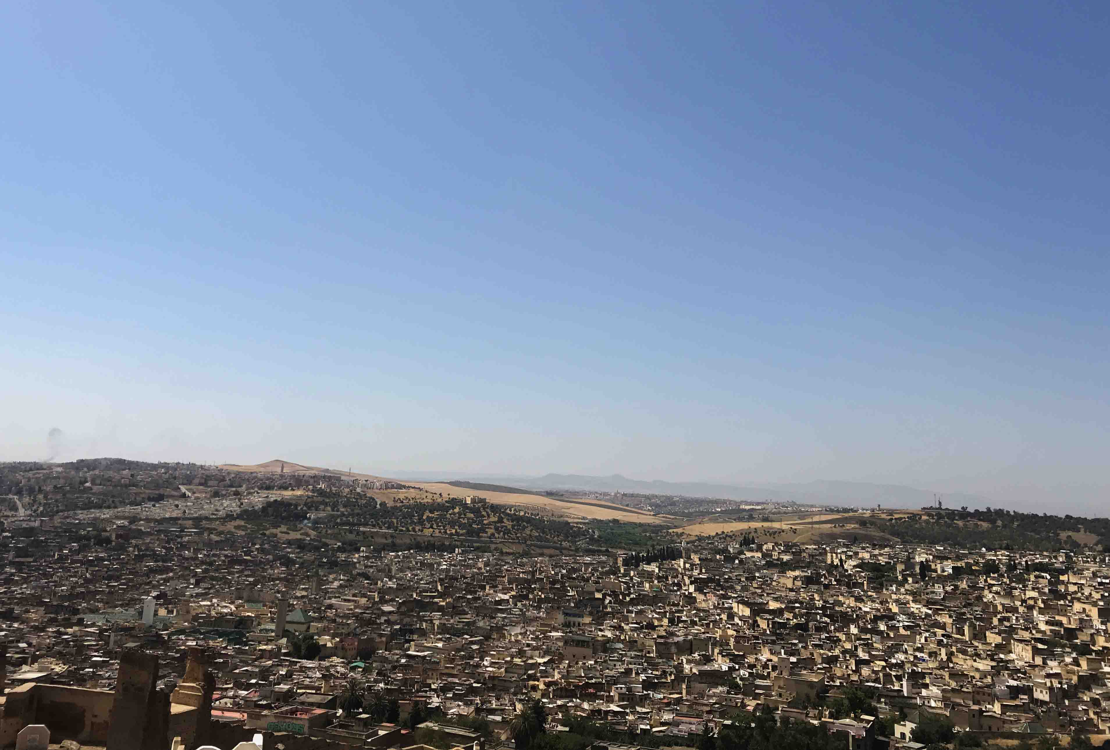 View from our morning walk to an overlook of Fez's medina.