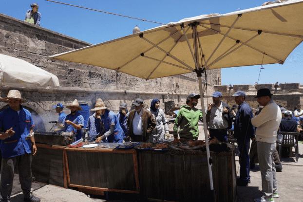Essaouira's fishing market