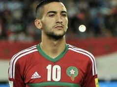 Hakim Ziyech with Moroccan national team