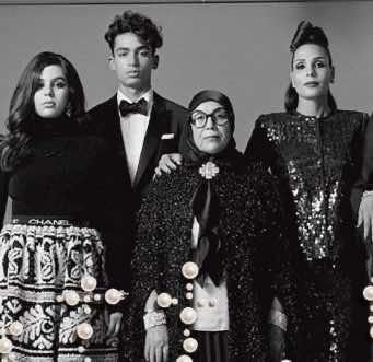 Moroccan Model Nora Attal And Family Pose for Vogue Italia