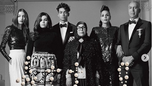 Moroccan Model Nora Attal And Family Pose for Vogue Italia