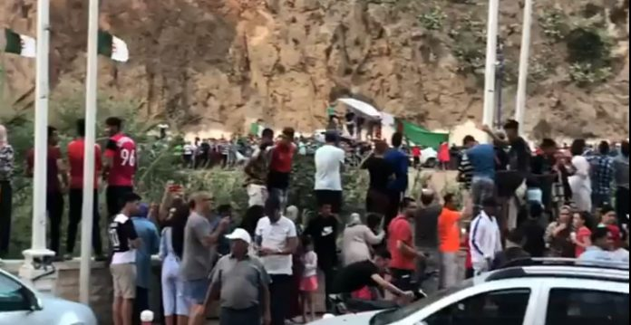 Videos: Watch Moroccans Celebrating Algeria's CAN Victory
