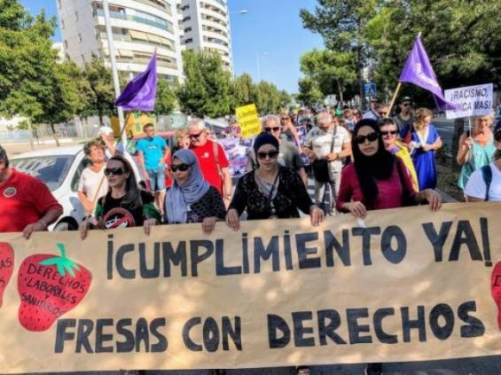 Spaniards Rally in Huelva to Condemn Sexual Assaults Against Moroccan Farmers