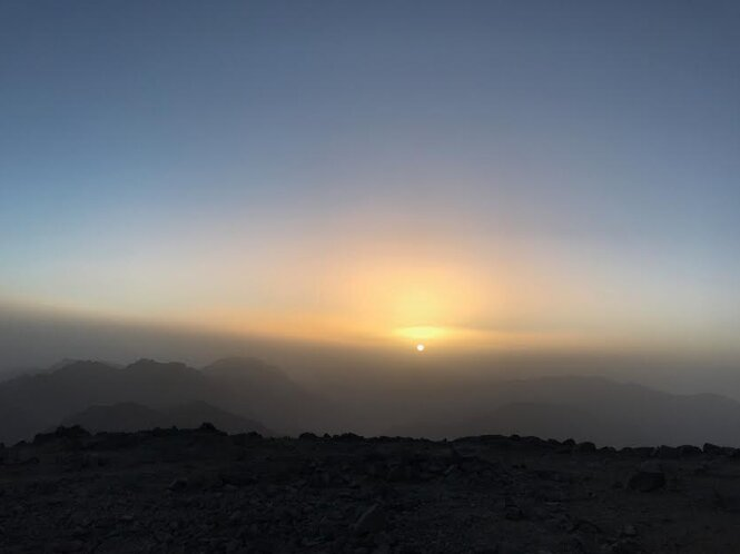 Sunset from Mount Toubkal's Summit