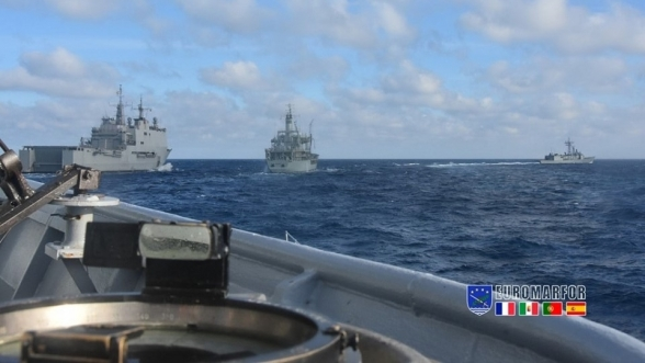 The European Maritime Force sends extensive fleet to Morocco for naval maneuvers.