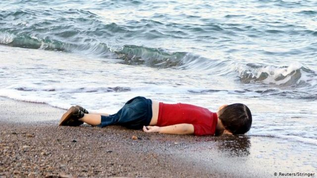 The tragic photo of Syrian toddler Alan Kurdi that shocked the world.