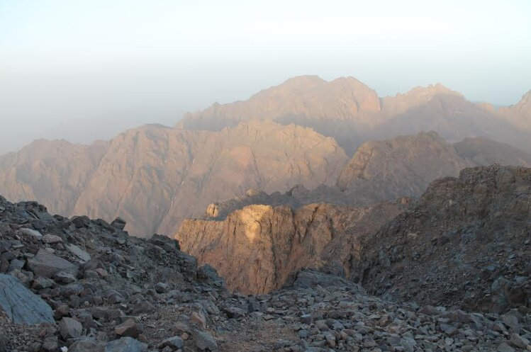 Toubkal mount summit