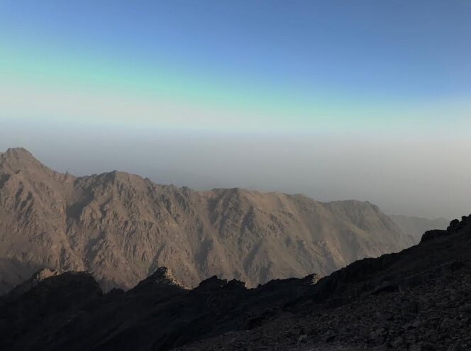 A view from the Toubkal mount