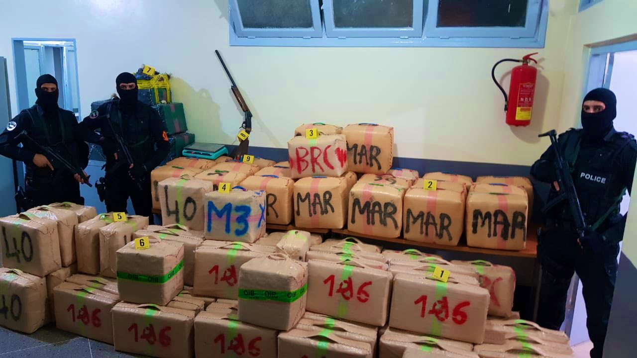 Agadir Police Seize Six Tons and 723 Kilograms of Cannabis Resin