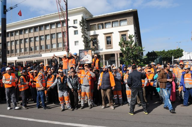 Casablanca Garbage Workers On Strike