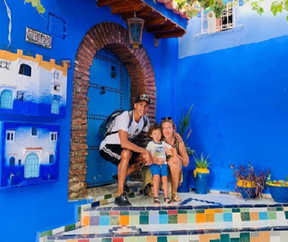 Football Player Raphael Varane Enjoys Family Trip in Chefchaouen