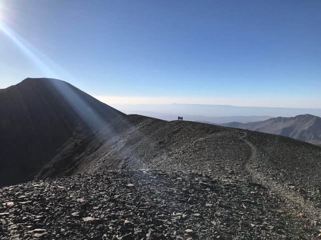 The Mgoun is Morocco's third highest peak, and while it isn't a technically difficult hike, it is still a challenge. The view from the top of the mountain is breathtaking.