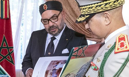 King Mohammed VI Hosts FAR General Inspector Abdelfattah Louarak