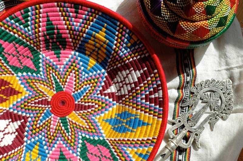 Moroccan handmade baskets