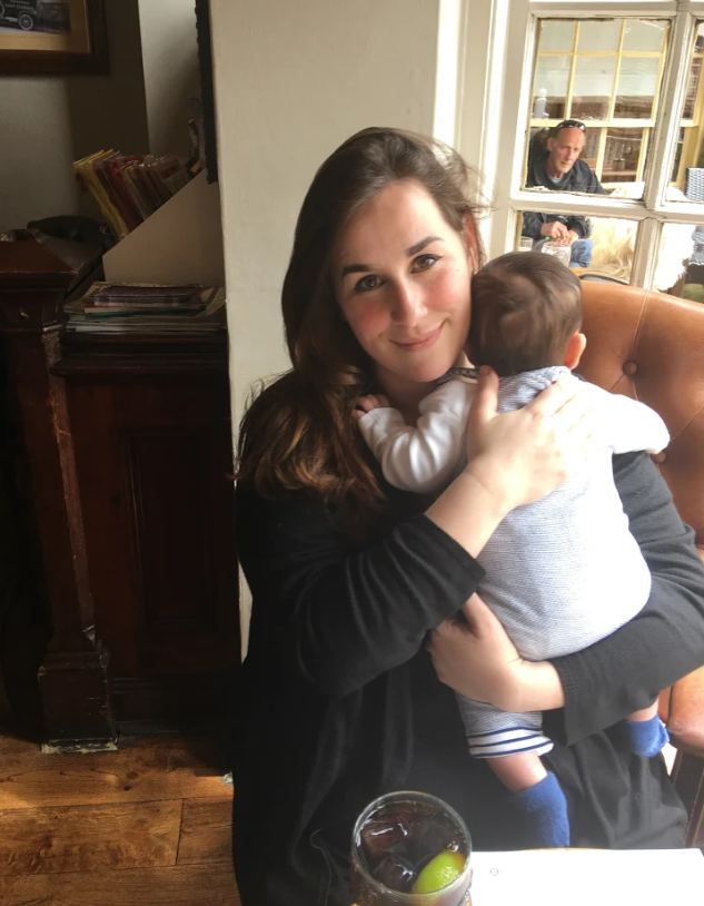 Madeleine Handaji with her baby