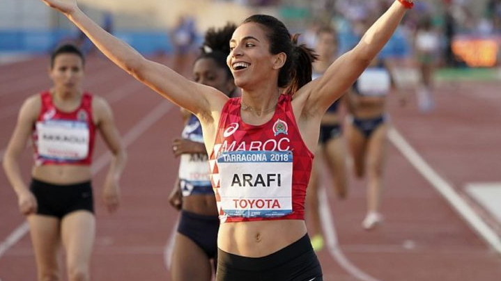 Moroccan Athlete Rabab Arafi Qualifies for 800m Race at IAAF World Championship