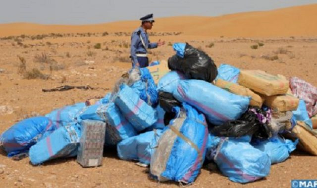 Moroccan Customs Incinerate Almost 2 Tons of Cannabis Resin in Laayoune