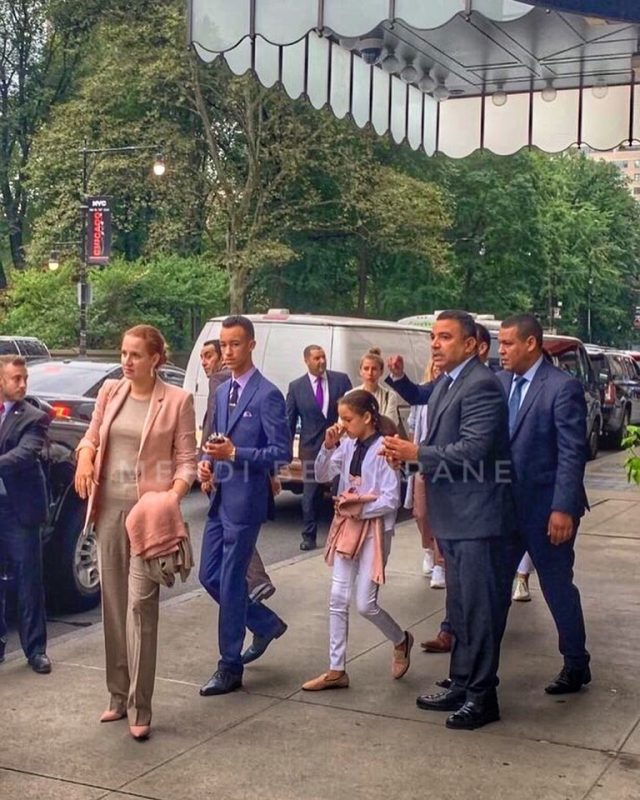 Princess Lalla Salma in New York With Princes Moulay Hassan, and Lalla Khadija