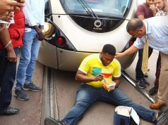 Sub-saharan Immigrant Protests Against Tramway Company in Rabat