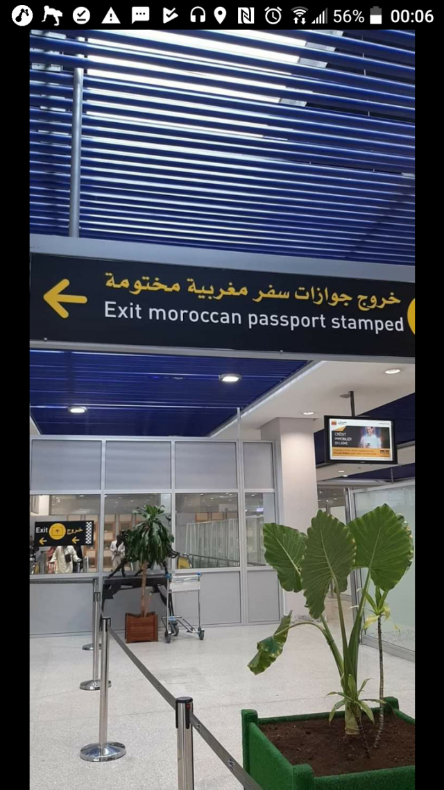 Nameplate at Casablanca Airport Riddled With Grammatical, Lexical Mistakes