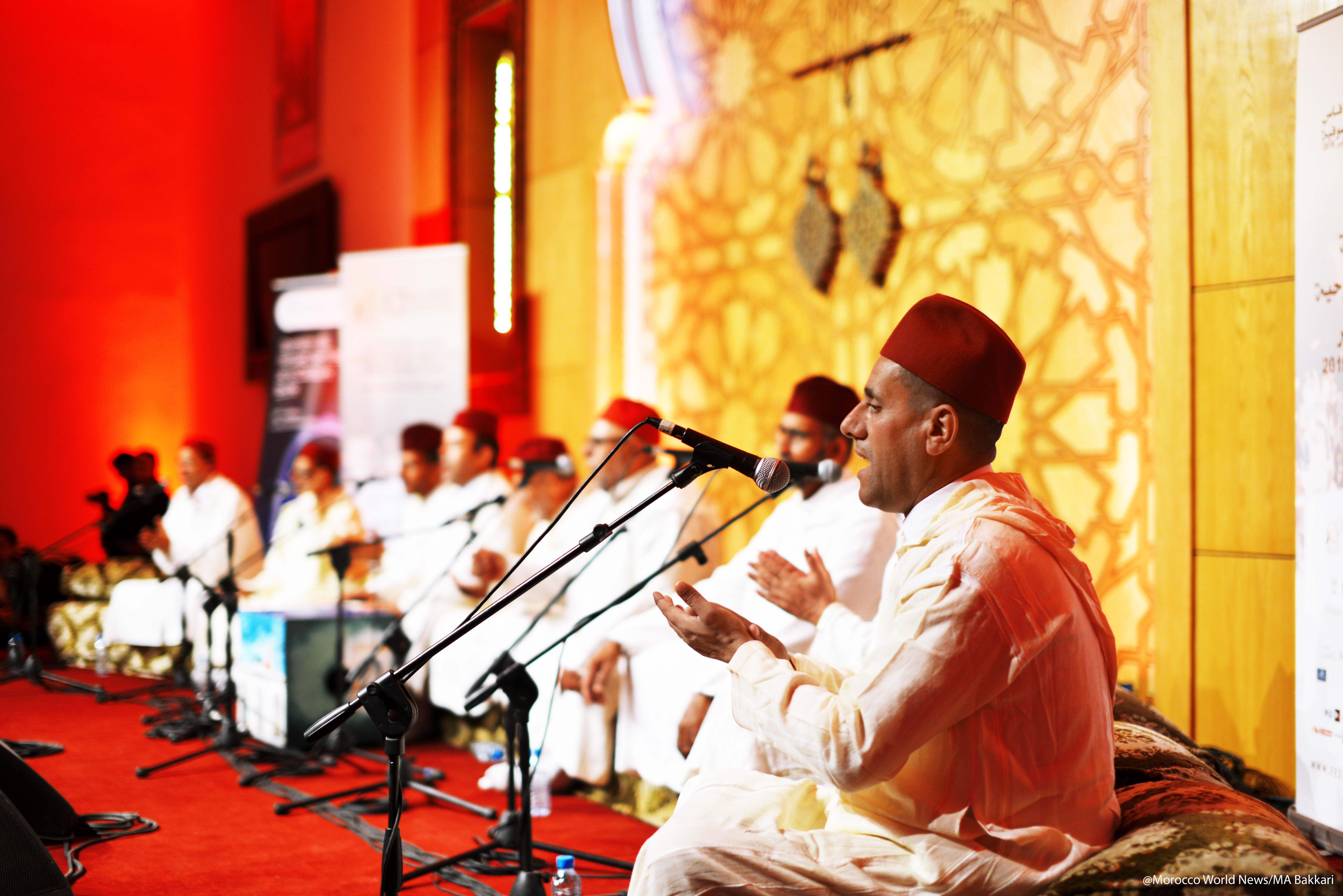 Sufi music group at the 12th Fez Festival of Sufi Culture Tariqa Sharqawiya