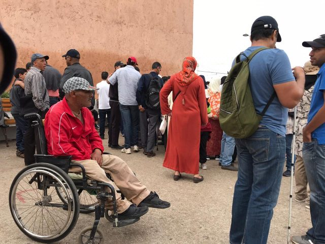 Disability Rights Activists Protest in Rabat