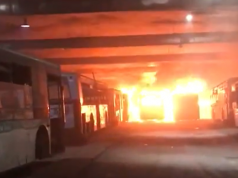 Fire Ravages M'dina Bus Warehouse in Casablanca