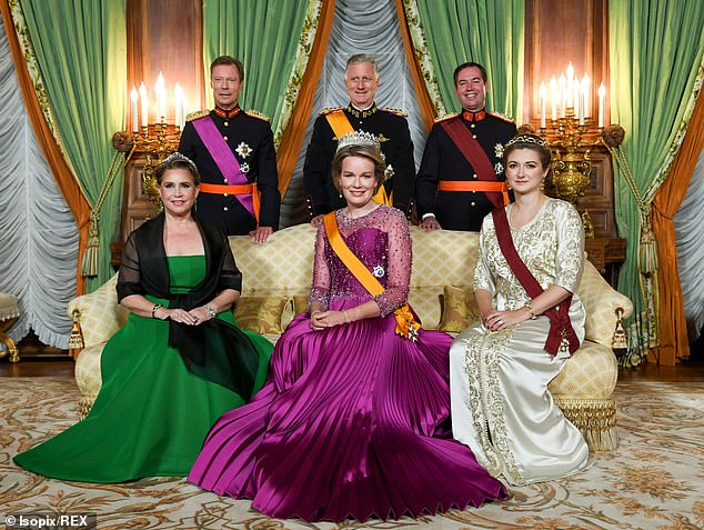 Grand Duchess of Luxembourg Dons Moroccan Kaftan