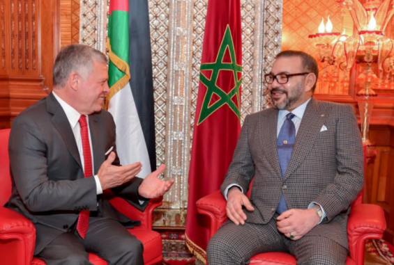 King Abdullah II of Jordan Checks on Health of King Mohammed VI