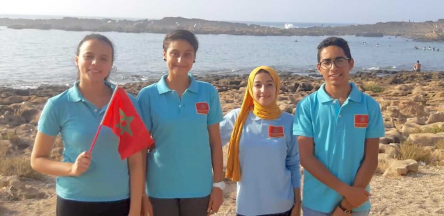 Moroccan Teenagers Participate in International Robotics Event in Dubai
