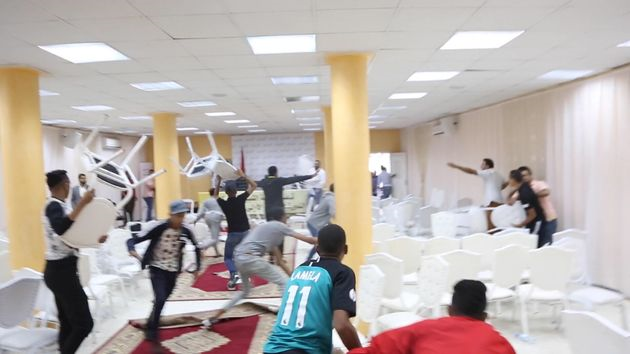 Popular Movement Party's National Council into Brawl