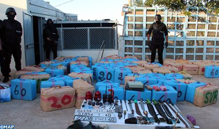 Tangier Police Arrest 5 Suspects for International Drug Trafficking