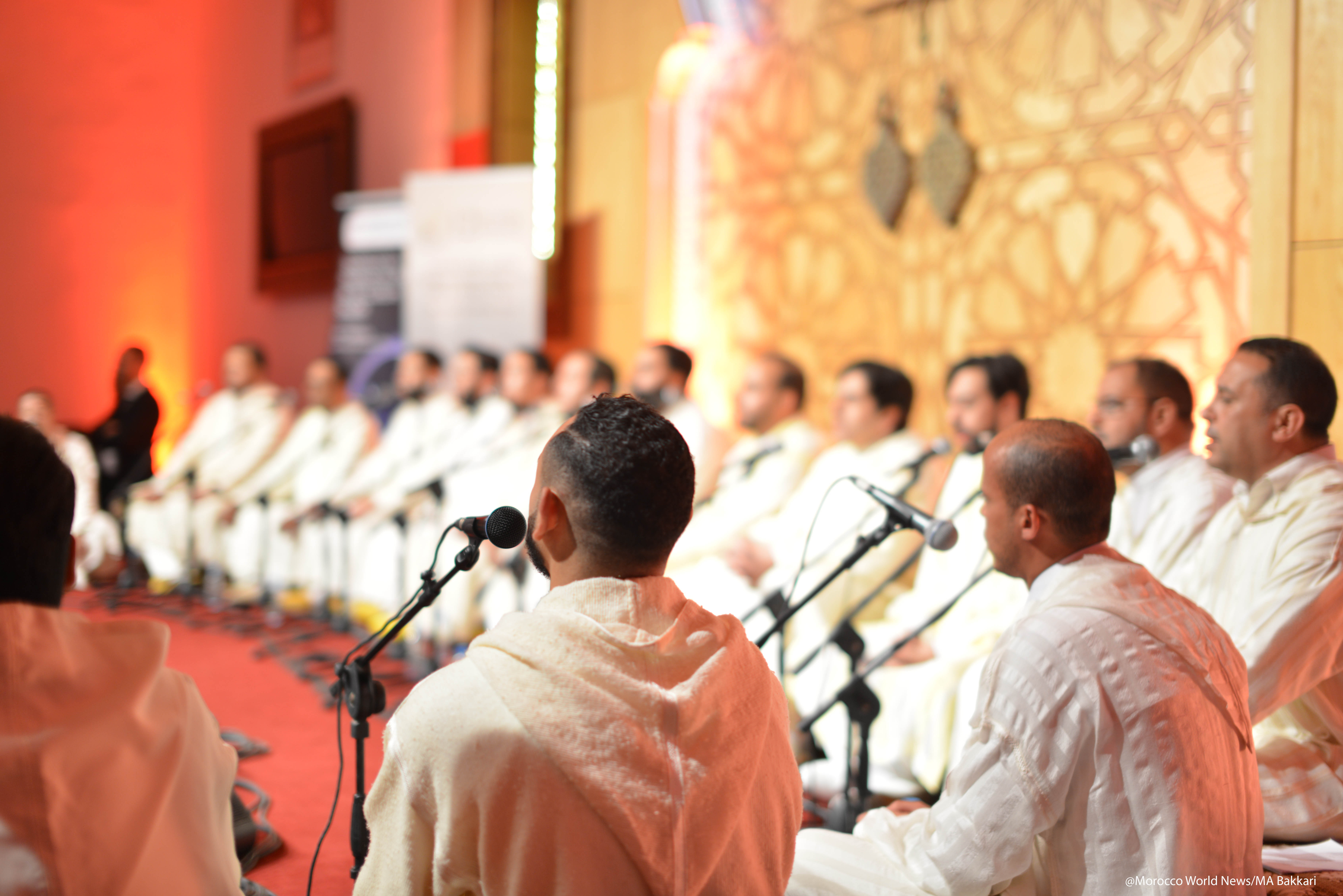 Sufi music group Tariqa Boutchichiya at the 12th Fez Festival of Sufi Culture