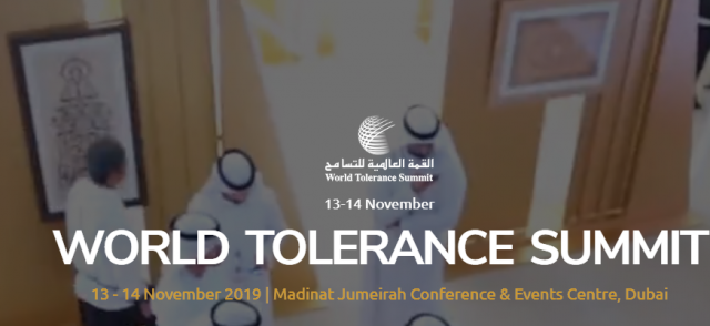 World Tolerance Summit 2019 Garners Sponsors Among Global Businesses