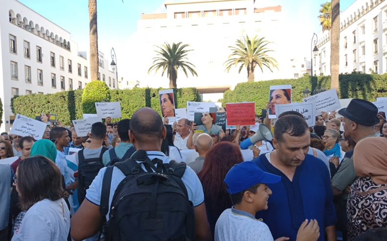 protest in solidarity with Hajar Raissouni