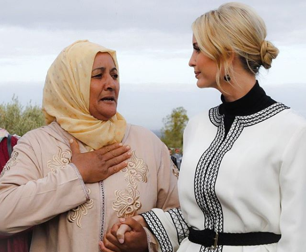 Ivanka Meets with Moroccan Women, Tours Olive Groves in Sidi Kacem