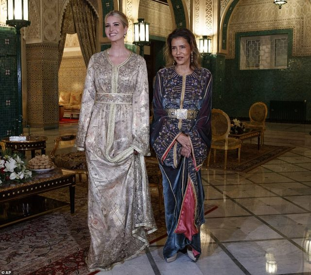 Ivanka Trump Shines in Moroccan Kaftan at Royal Dinner