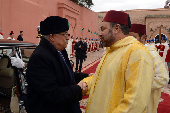 King Mohammed VI and Mahmoud Abbas