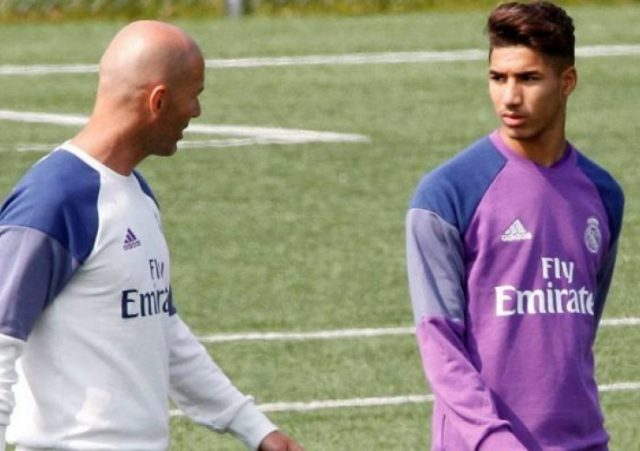 Zinedine Zidane Says Morocco's Hakimi Will Stay in Dortmund
