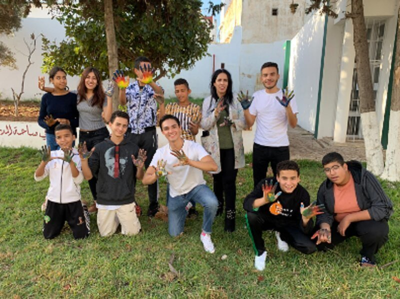 Expression Through Art: Rabat Students Paint their Feelings